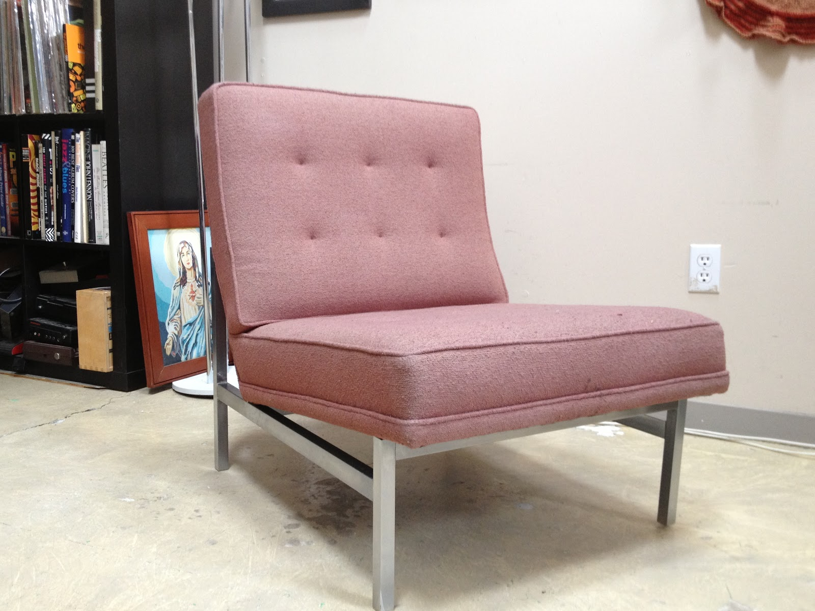 time capsule now sold labeled florence knoll slipper chair original