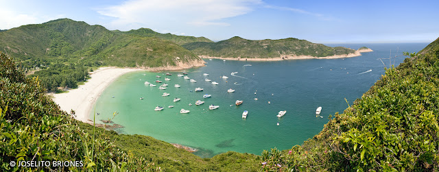panoramic view of long ke wan beach in sai kung, hong kong. photo by joselito briones