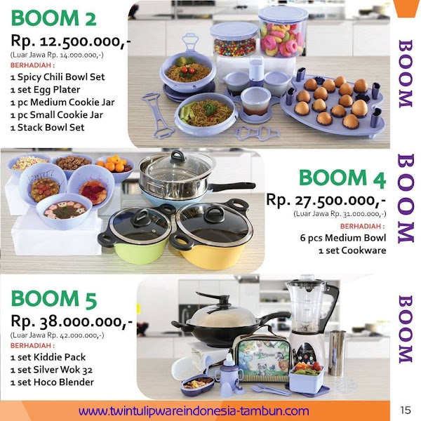 BOOM 2, 4 & 5 Twin Tulipware September - Oktober 2015