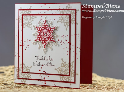 Weihnachtskarte; Festive Flurry; Gorgeous Grunge; Easy Triple Card; Mitbringsel; Kerze basteln; Goodie; Bigz Top Note; Stampin' Up Hochzeitsgeschenk; Stempel-biene; Scrapbooking; Scrapbook; stampin' up; Stampin' up recklinghausen; Workshops; Mitternachtsblau; Morgenrot; www.stempel-biene.com; Karten basteln stampin' up, basteln stampin up, workshop stampin up, sammelbestellung, stempelparty, 1000 euro party, Stempel-biene Recklinghausen, stempelbiene recklinghausen, Anleitung Bigz L Knallbonbon, Hochzeitskarte, Hearts a Flutter;