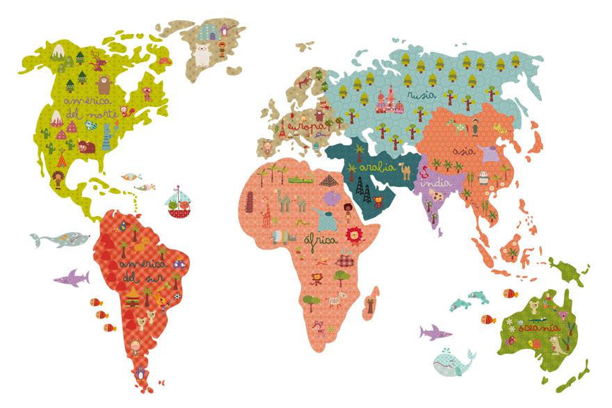 Vinilo mapamundi