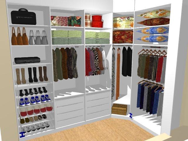 Neuma andrade designer closet em l for Closets abiertos pequenos