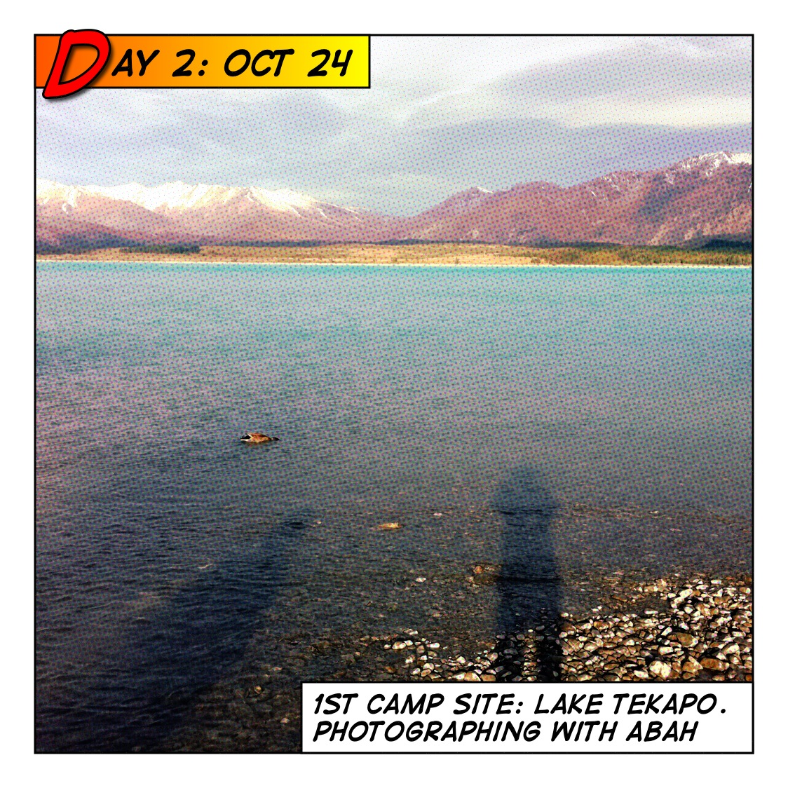 Roze kiwi motorhome adventure Lake tekapo motor camp