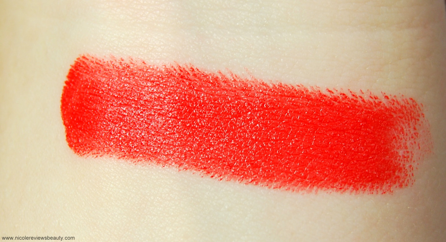Swatch of Wet N Wild Purty Persimmon from NicoleReviewsBeauty.com