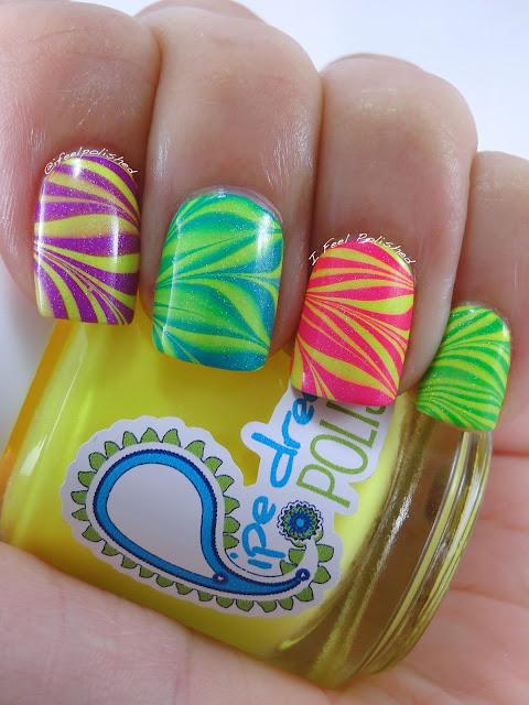 Neon Water Marbling