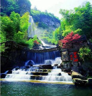 Footbridge(yuanyang) Waterfall ,Hunan-China