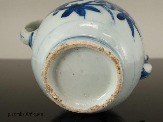 "<img src=""Chinese Ming Teapot .jpg"" alt=""blue and white porcelain teapot footrim"">"