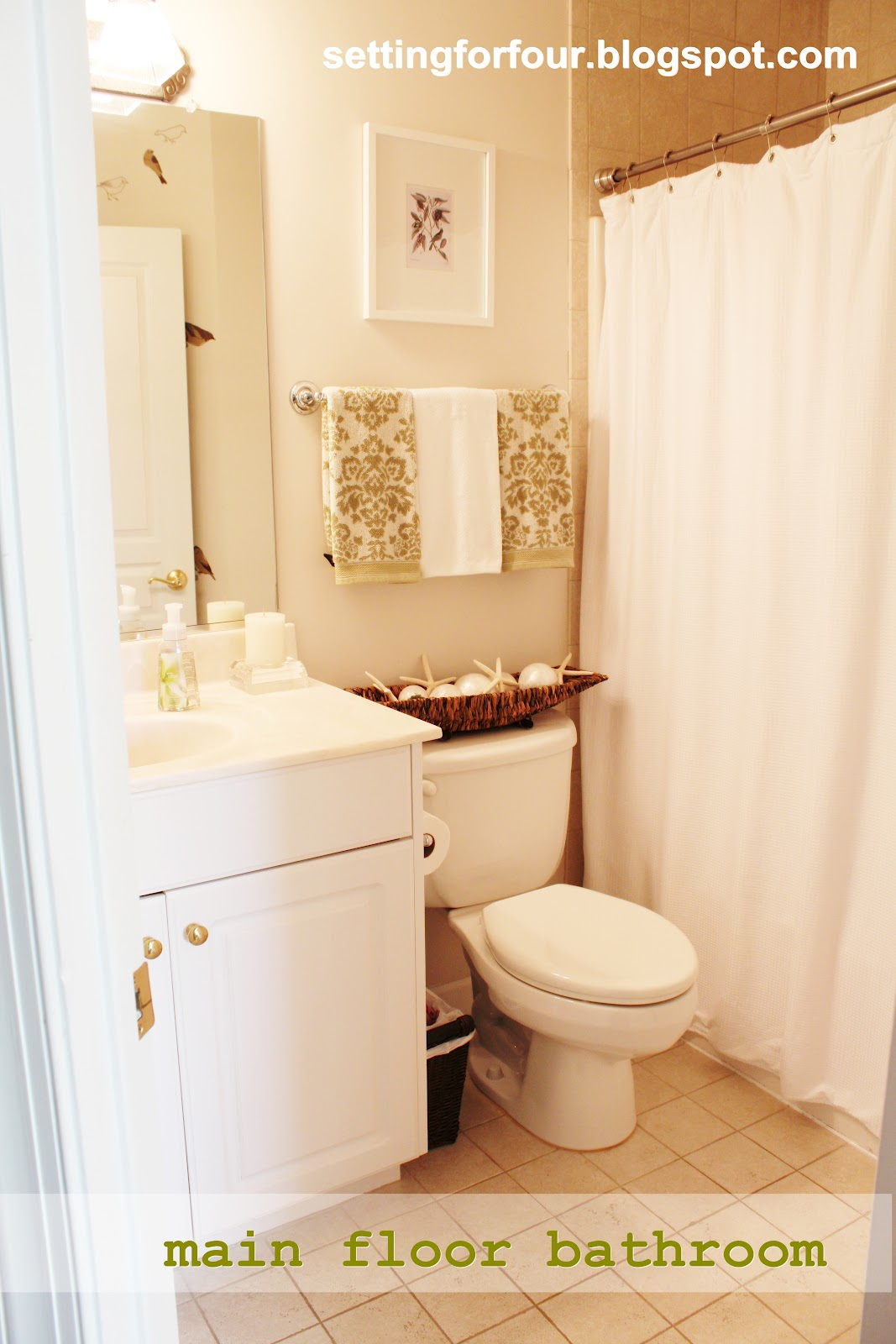 My Space: Main Floor Bathroom - Setting for Four