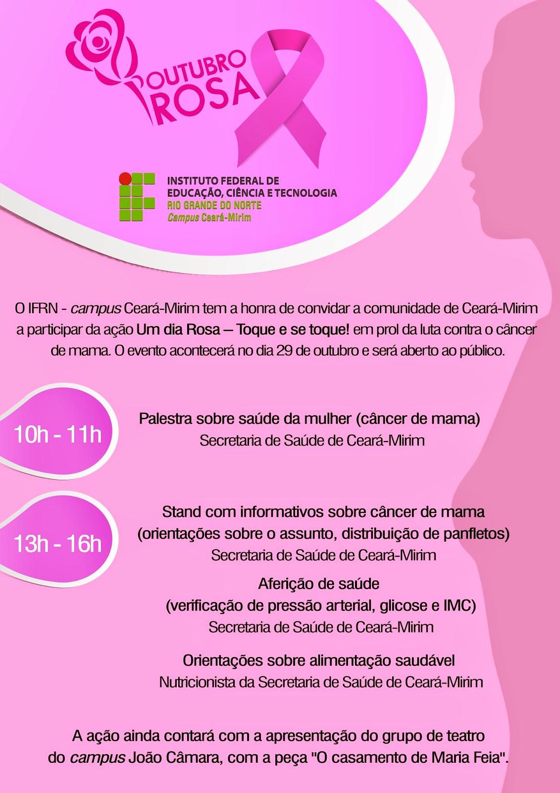 Um dia Rosa no IFRN de Ceará-Mirim