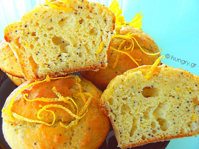 Muffins Λεμονιού με Παπαρουνόσπορο και Στέβια