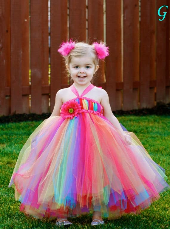 Babies Images-Rainbow-bright-tutu-dress-Kids Photos
