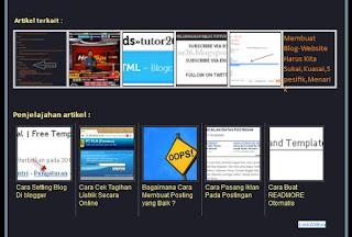 Cara Buat/Pasang Artikel Terkait/Related Post ber-gambar/Avatar di Blog