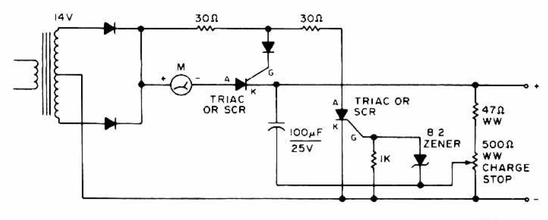 Solar Battery Charger Circuit Diagram