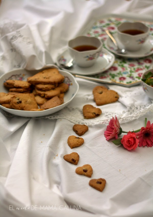 Galletas de nueces y arándanos