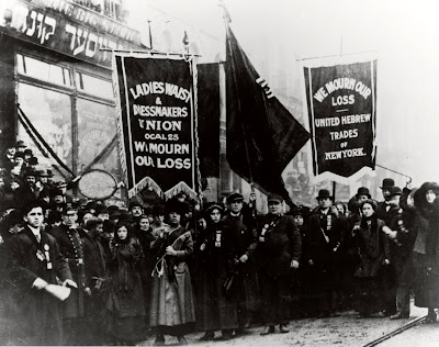 Demonstration of protest and mourning for Triangle Shirtwaist Factory fire of March 25, 1911