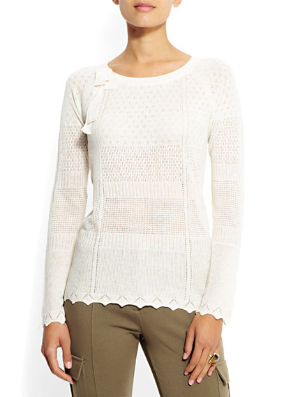 Белый Вязаный Пуловер С Доставкой