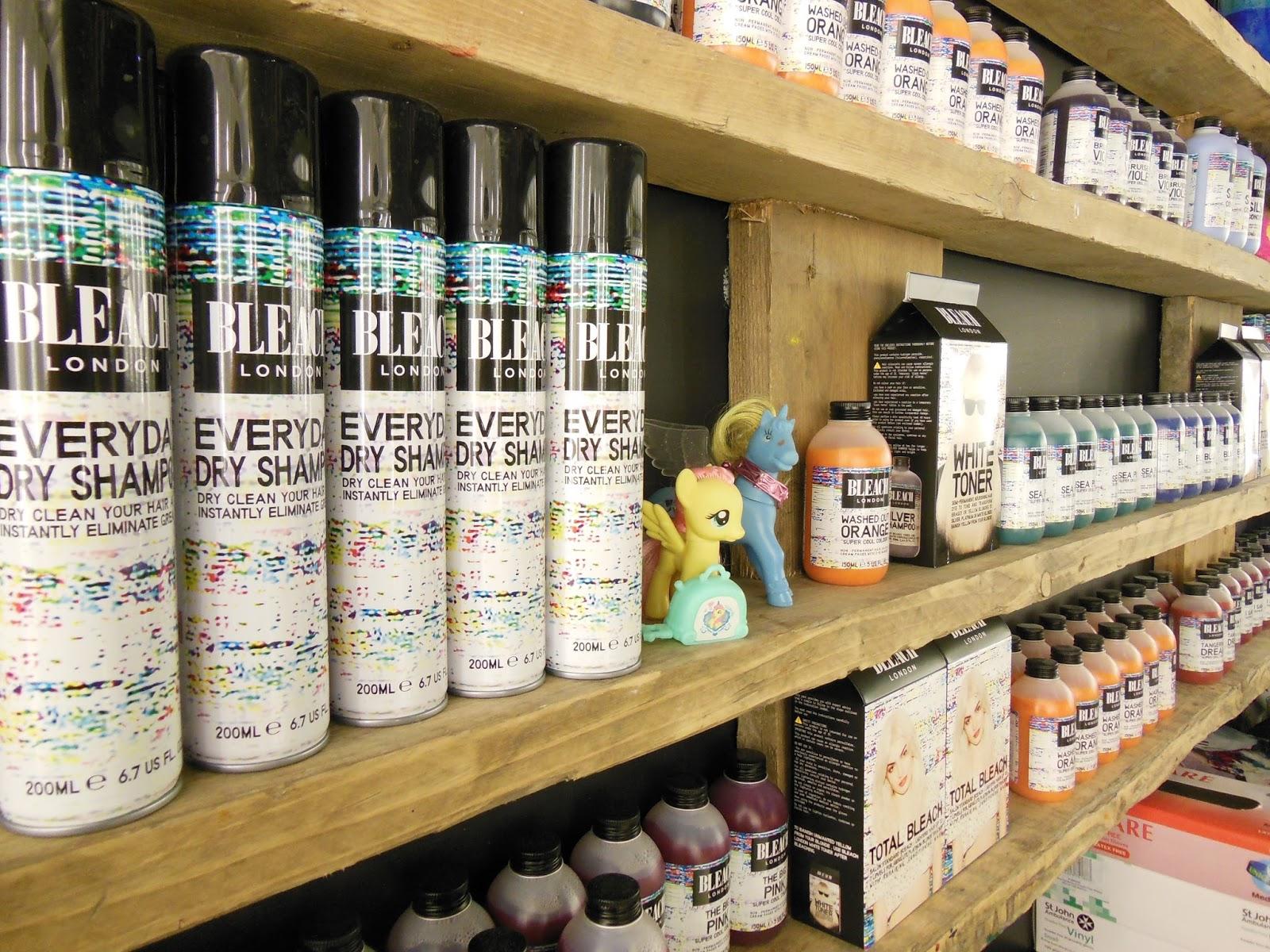 Bleach london salon product wall