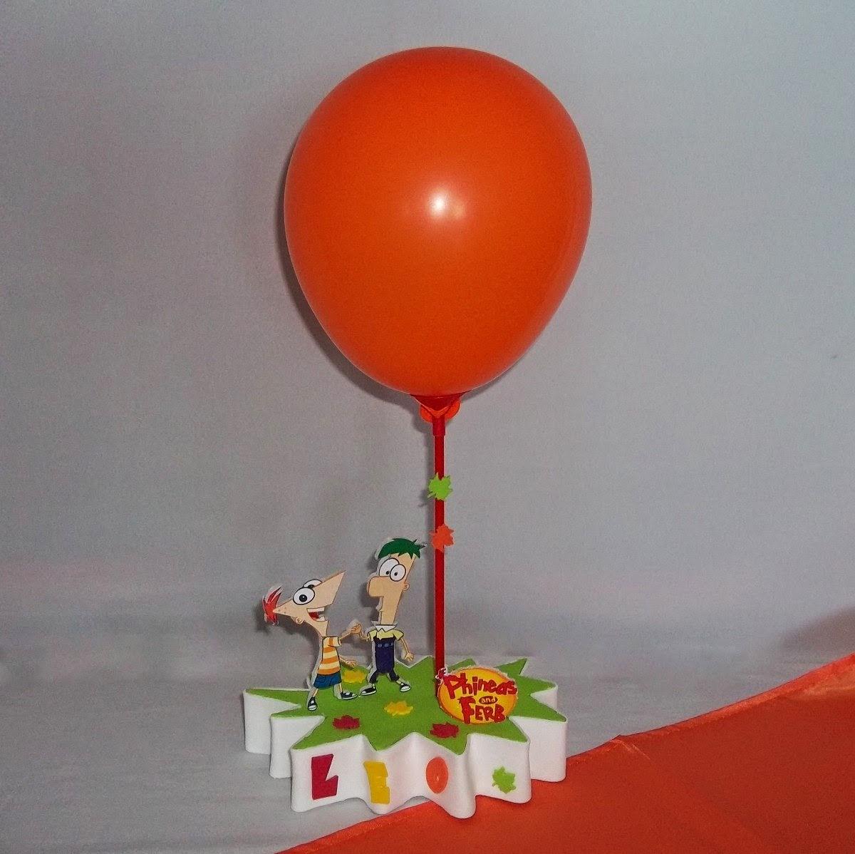 Centros de Mesa con Phineas y Ferb, parte 2
