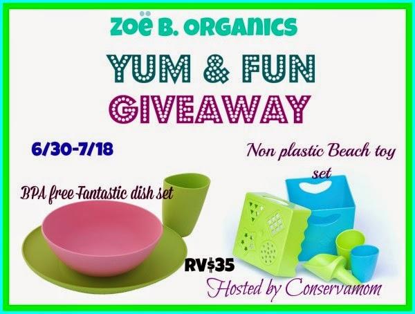 Zoe B Organic Yum & Fun Giveaway