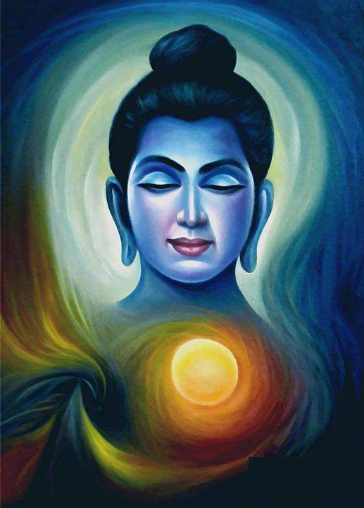 Quotes buddha paintings quotesgram for Buddha mural paintings