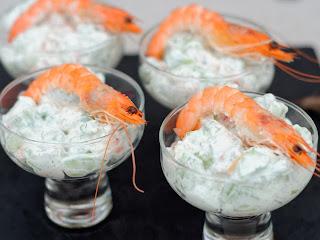 Tzatziki aux crevettes et aux radis