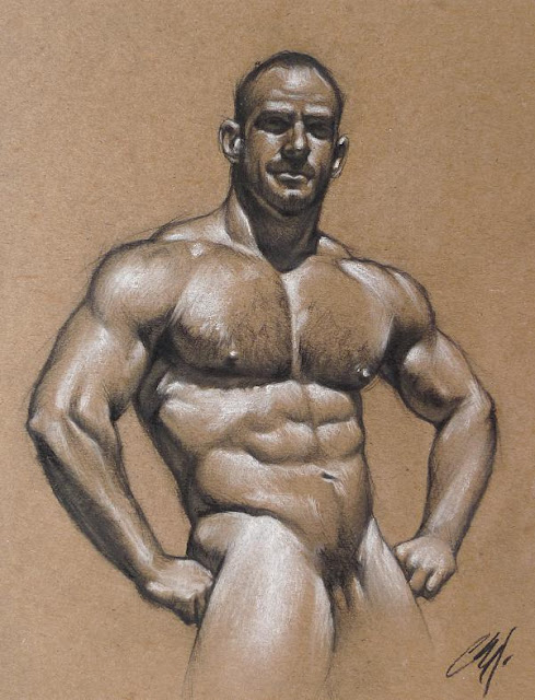 MALE DRAWING ART BLOG : CHRIS LOPEZ DRAWING AND PAINTING GRAPHITE AND PENCILS ON PAPER 2009