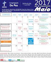 Calendário de Maio