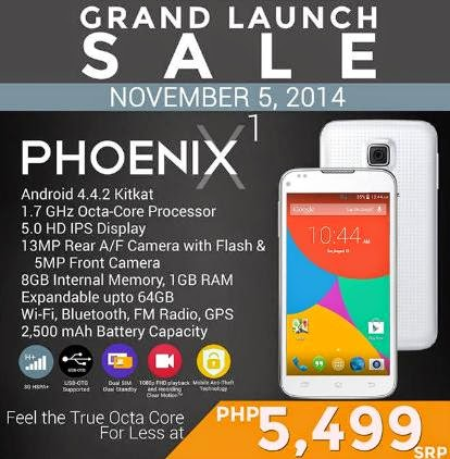 SKK Mobile Phoenix X1 Official Launch this November 5