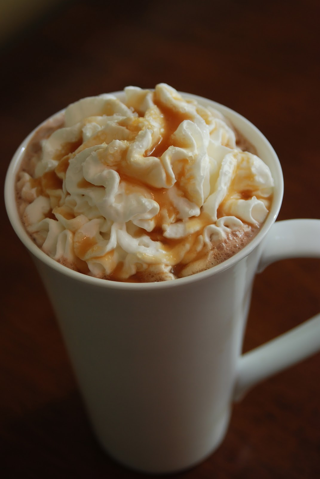 Copycat Starbucks Salted Caramel Hot Chocolate
