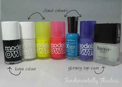 Neon Galaxy Nails