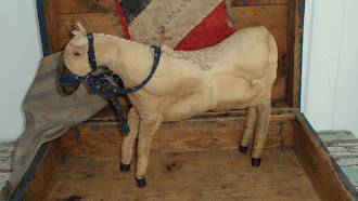 """The Noble Steed"" hand made Pony out of early 1800's feedsack"