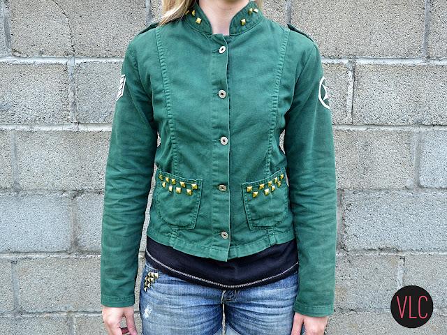 customização jaqueta estilo militar