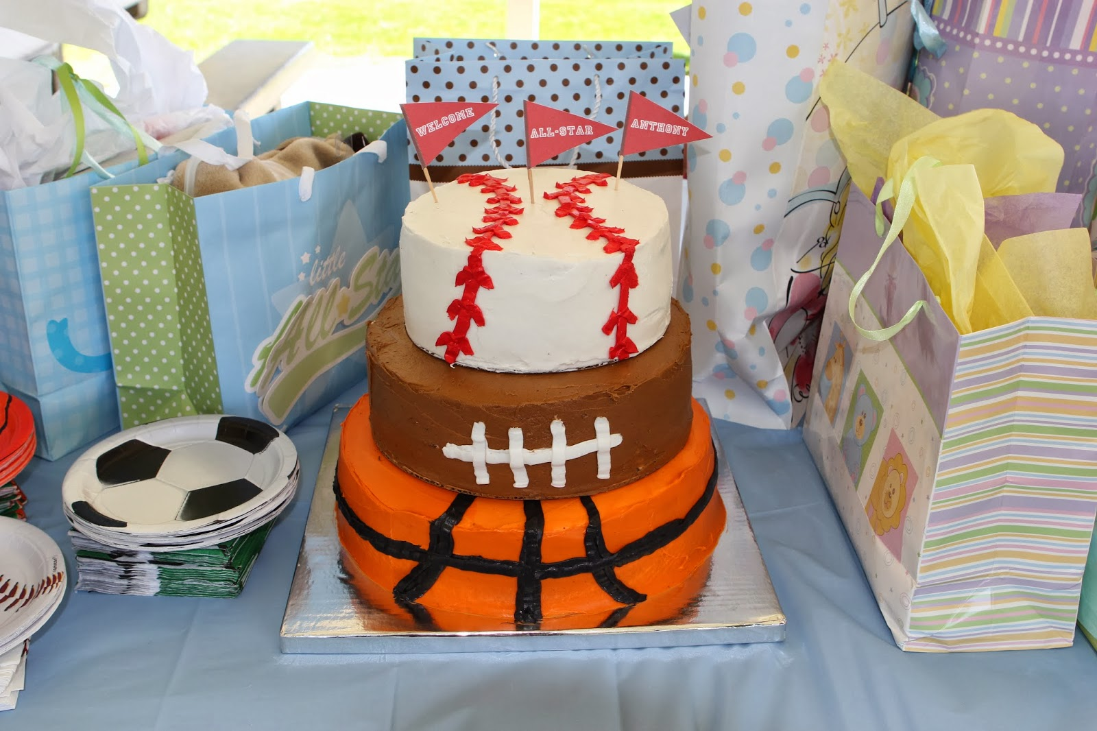 My Friend Was Having A Boy And Wanted A Co Ed Party At The Park. They Are  Both Into Sports So It Was A Perfect Fit To Do A Sports Themed Baby Shower.
