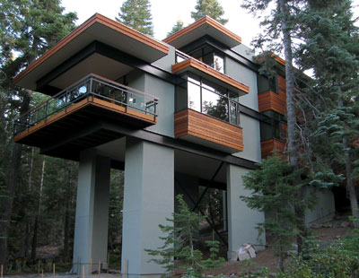A k a awesome modern tree houses for Small green home plans