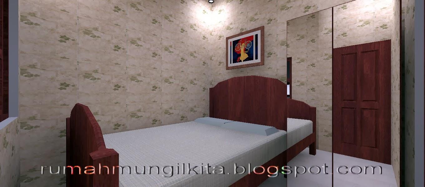 rumah lebar 4 meter, 3 kamar tidur - ruang tidur utama