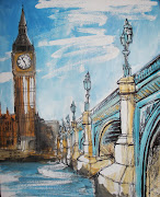 Commissioned London Paintings on Canvas. London Cityscape paintings by .