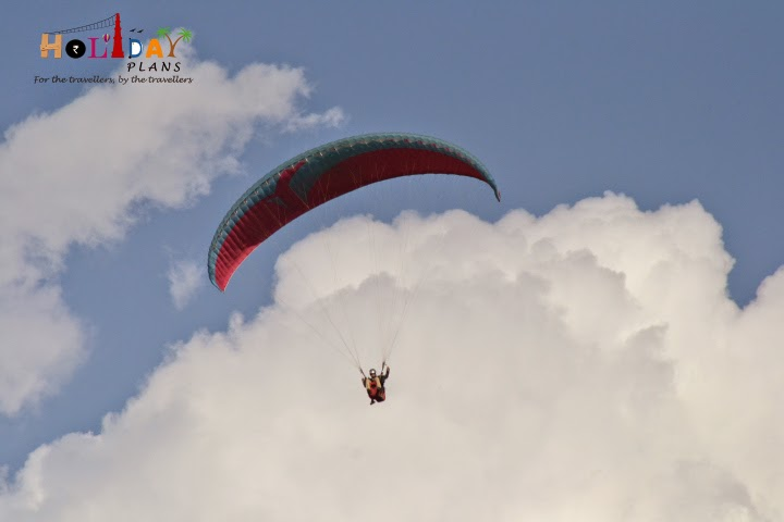Geetansh enjoying paragliding