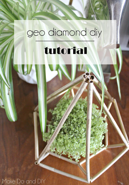 geo diamond diy plant cage ornament