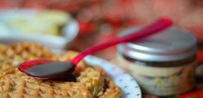 jabłkowe gofry z quinoa