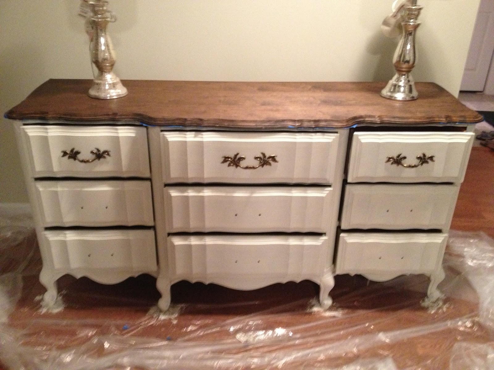 Chalk paint dresser redo part 1 home sweet ruby Best color to paint dresser