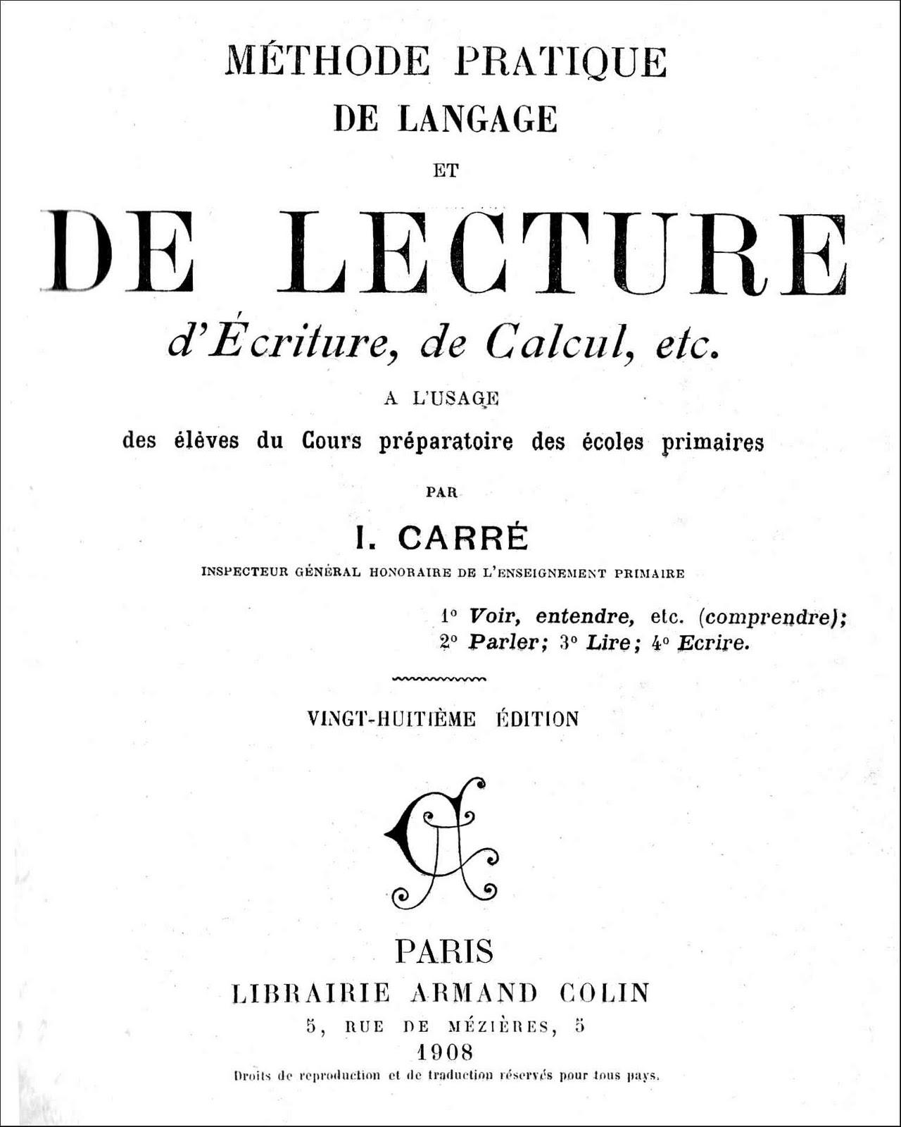 Bien-aimé école : références: Méthode Pratique de Langage et de Lecture, d  EJ21