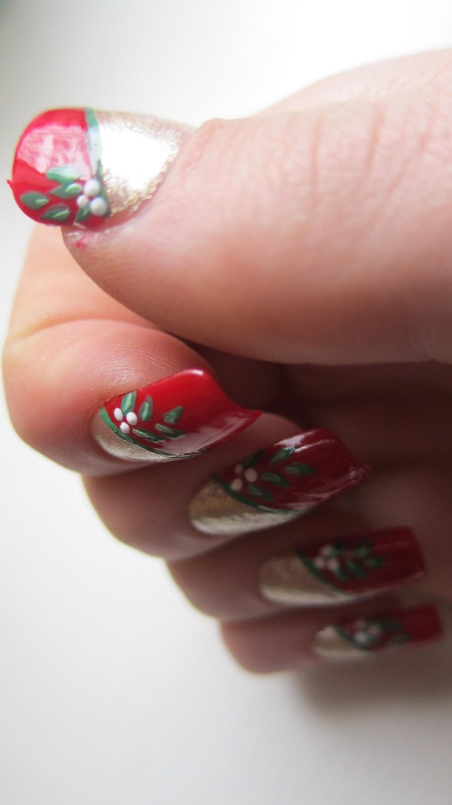 Everflair Christmas 2012 Nail Art Design