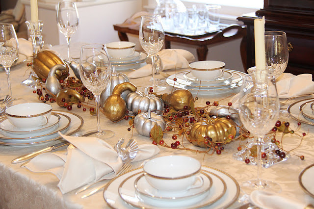 Stranded in cleveland thanksgiving centerpiece table
