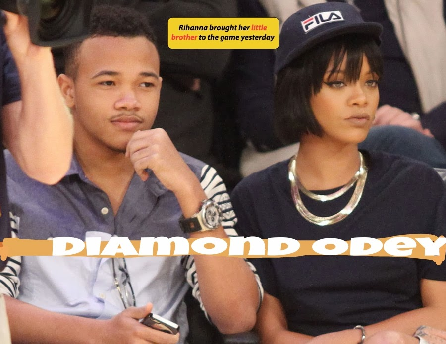 Rihanna And Her Brother 2013