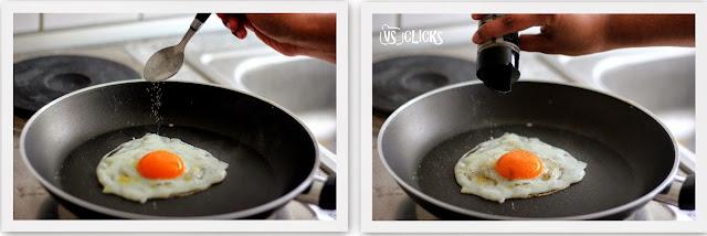 Half Boil Egg Omelette Instructions