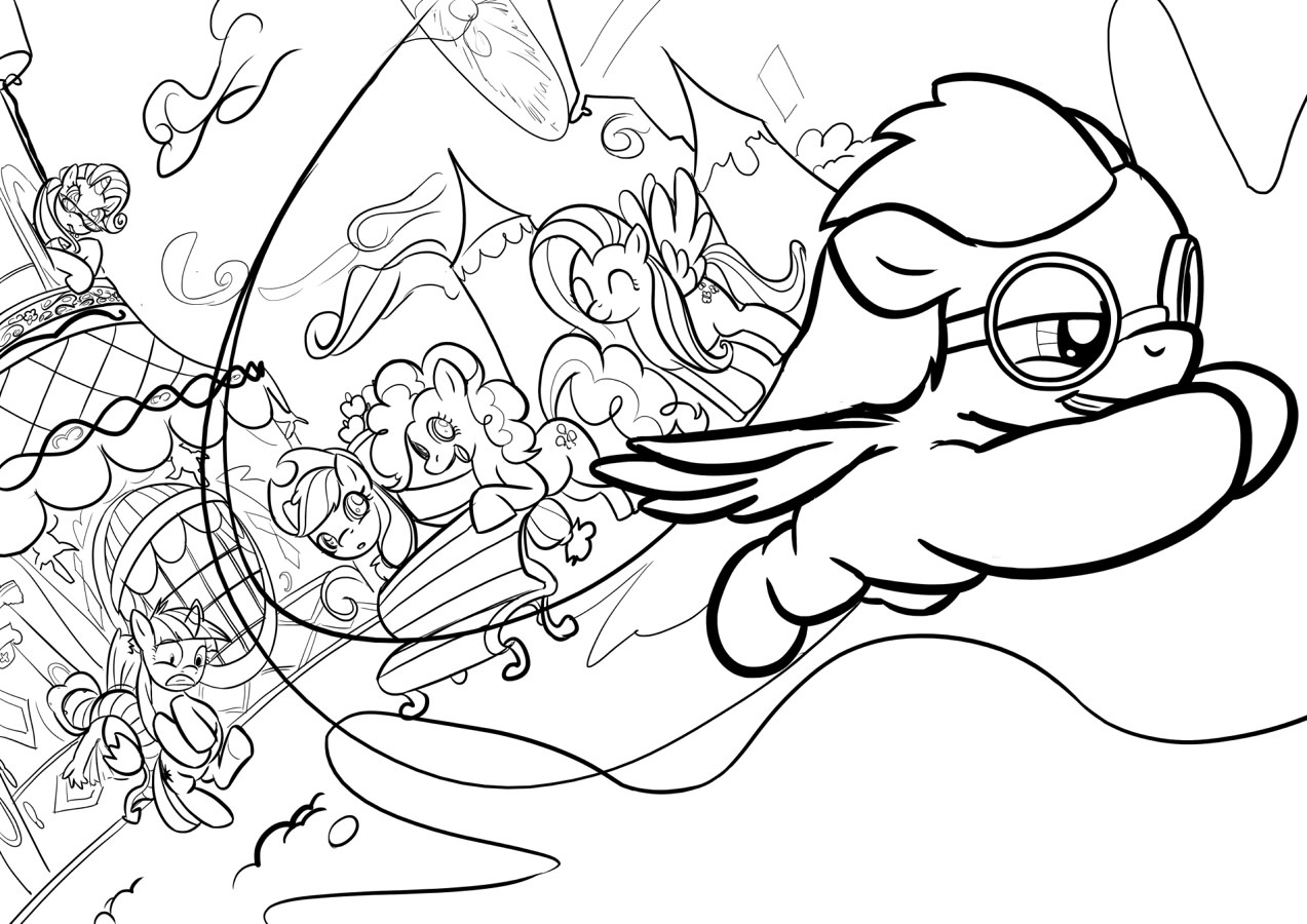 Free Rarity Applejack Coloring Pages