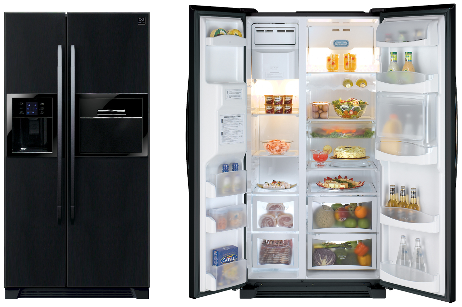 Open the refrigerator stainless steel refrigerator for Household refrigerator design