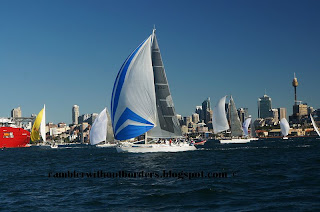 Sailing yachts in Sydney Harbour, Australia