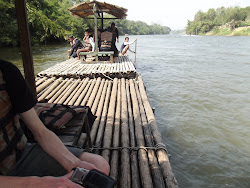 Bamboo raft ride.