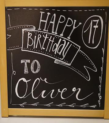Geburtstag, Geburtstagsschild, Chalkboard, 17.Geburtstag, Happy Birthday